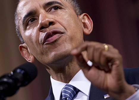 Yhdysvaltain presidentti Barack Obama puhui keskiviikkoiltana kahdelletuhannelle kutsuvieraalle kulttuurikeskus Bozarissa Brysselissä.