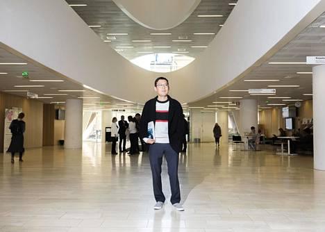 Helsingin yliopiston Kaisa-kirjasto on Jeongdo Kimille tuttu. Hän teki suuren osan väitöskirjastaan siellä.
