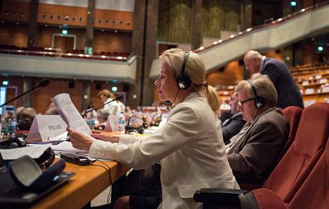 Kansanedustaja Pia Kauma (kok) osallistui Etyjin parlamentaarikkojen kokoukseen Istanbulissa maanantaina.