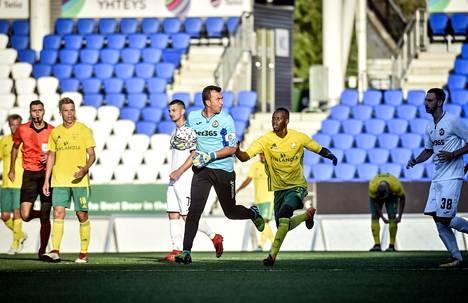 Keltapaitaiset Ilveksen pelaajat jäivät Eurooppa-liigan karsintojen ensimmäisellä kierroksella bulgarialaisen Slavia Sofian jalkoihin.