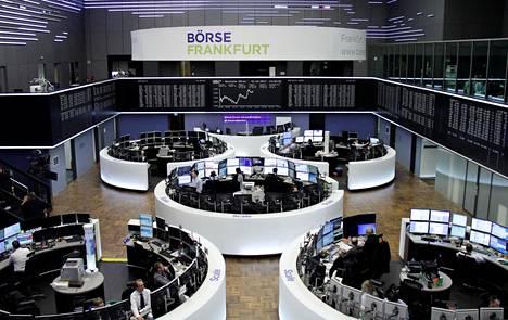 Frankfurtin pörssin pörssisali.