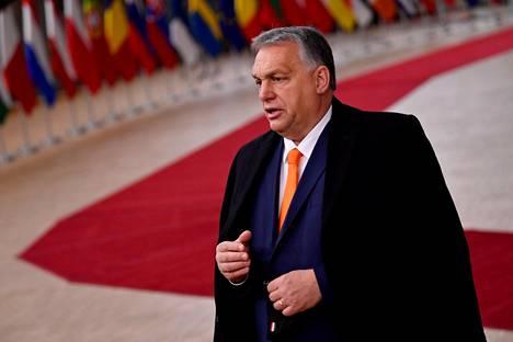 Unkarin pääministeri Viktor Orbán kuvattuna Brysselissä joulukuussa 2020.