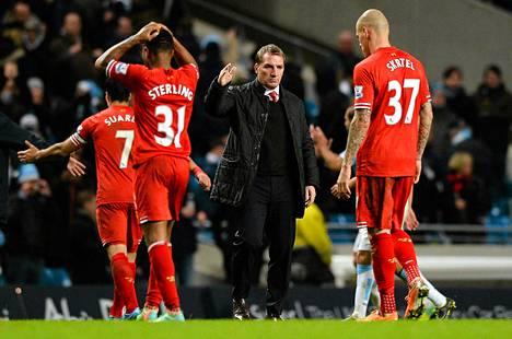 Liverpoolin valmentaja Brendan Rodgers kävi kuumana Tapaninpäivän ottelussa.