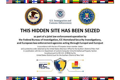 Silk Road 2.0:n etusivulla kerrottiin torstaina, että sivusto oli viranomaisten hallussa.