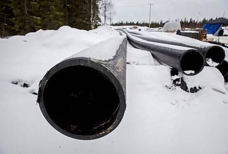 Jätevesien purkuputki on jo rakenteilla, sillä Talvivaara Sotkamon konkurssipesä on aloittanut työt omalla riskillään.
