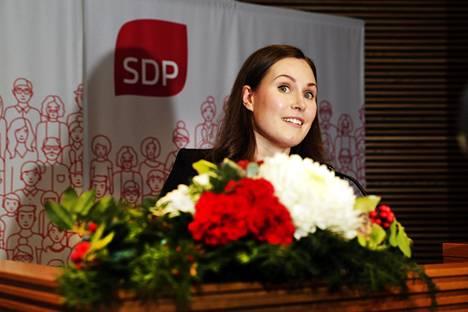 Sanna Marin on SDP:n puoluevaltuuston valitsema pääministeriehdokas.