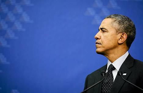 Yhdysvaltain presidentti Barack Obama piti lehdistötilaisuuden Haagissa tiistaina.