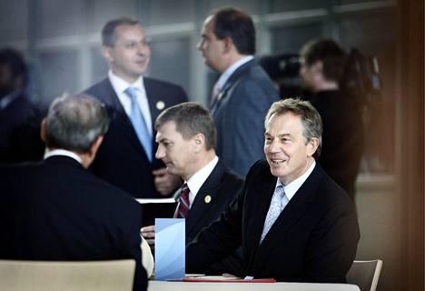 Britannian pääministeri Tony Blair osallistui 2006 EU huippukokoukseen Lahdessa.