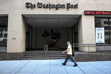 Jezz Bezos ostaa Washington Postin 250 miljoonalla dollarilla (noin 200 miljoonalla eurolla)