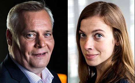 Sdp:n puheenjohtaja Antti Rinne ja Vasemmistoliiton puheenjohtaja Li Andersson.