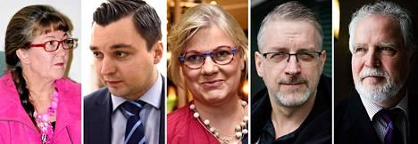 Inkeri Yritys, Joakin Strand, Minna-Maaria Sipilä, Marko Kilpi ja Martti Korhonen.