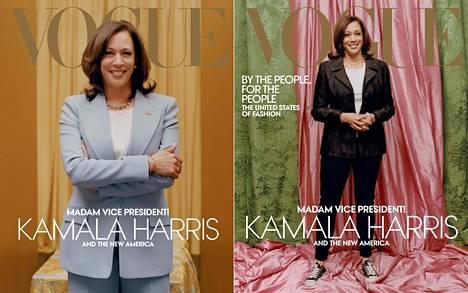 Tulevasta varapresidentistä Kamala Harrisista kuvattiin Voguen kanteen kaksi erilaista versiota, muodollisempi sekä rennompi.
