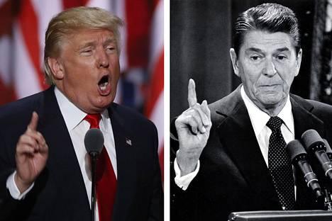 Republikaanien presidenttiehdokas Donald Trump ammentaa talousajattelunsa pitkälti edesmenneeltä presidentiltä Ronald Reaganilta.