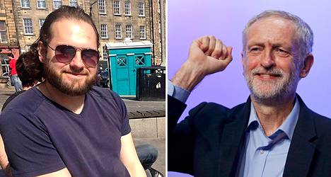 Suomalainen Mirko Demasi kannattaa Jeremy Corbyniä.