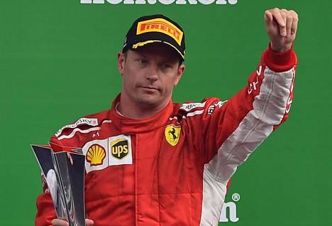 Kimi Räikkösen ura Ferrarilla päättyy tähän kauteen.