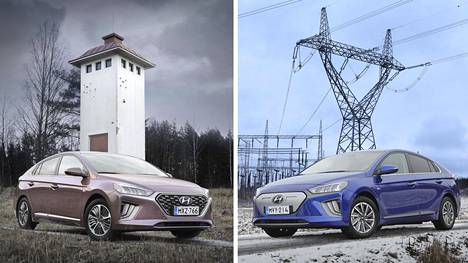 Ioniq on sulavalinjainen, jopa kaunis auto, mutta koeajoauton ruskea väri tuskin nousee suosituimmaksi valinnaksi. Ioniq Electricin erottaa hybrideistä umpinaisesta etumaskista.