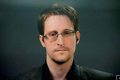 Edward Snowden on elänyt Venäjällä vuodesta 2013. Snowden puhui lehdistötilaisuudessa New Yorkissa videon välityksellä syksyllä 2016.