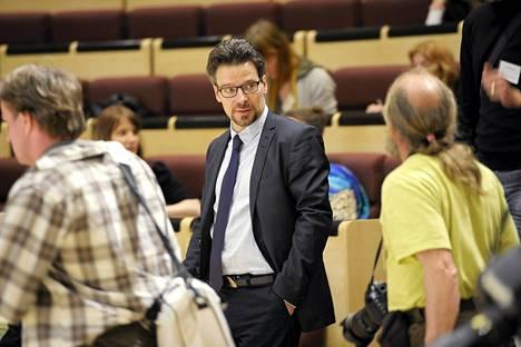 Vihreiden puheenjohtaja Ville Niinistö puolueensa puoluekokouksessa Lappeenrannassa lauantaina.