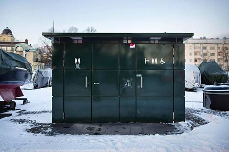 Muun muassa tämä Merisatamanrannassa sijaitseva kaupungin julkinen käymälä on toistaiseksi lukittuna ympäri vuorokauden.