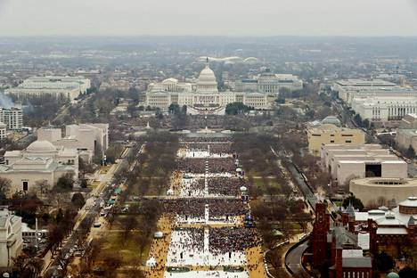 Only about a third of Obama's 2009 audience attended Trump's inauguration.