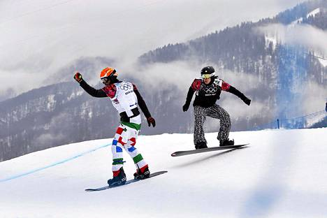 Anton Lindfors (oik.) viime talven olympialaisissa.