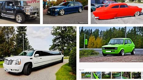 Nettiauton katsotuimmissa ilmoituksissa kaupataan epätavallisia ja tuunattuja autoja. Perusautot loistavat poissaolollaan.