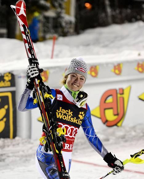 USA:n Mikaela Shiffrin on pujottelun teinitähti.