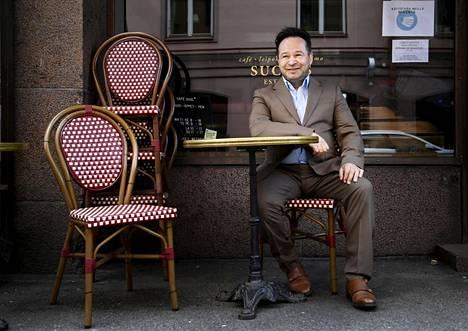 Teatterintekijä ja nyt elokuvaohjaaja Valto Baltzar Helsingissä 24. toukokuuta.
