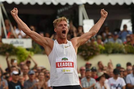 Kevin Mayer on kymmenottelun uusi maailmanennätysmies.