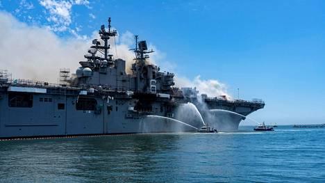 Räjähdys sattui USS Bonhomme Richard -aluksella sen ollessa kotisatamassa huoltotöiden vuoksi.
