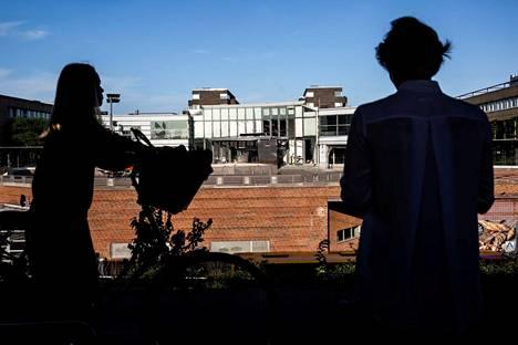 Räjähdyksen vaurioittama veroviraston julkisivu Kööpenhaminassa Tanskassa viime viikon keskiviikkona.