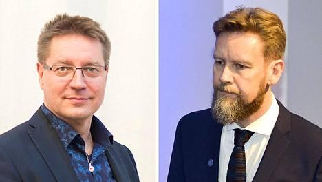 Taideyliopiston rehtori Jari Perkiömäki ja Sibelius-Akatemian dekaani Kaarlo Hildén.