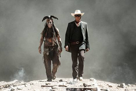 Johnny Depp (left) and Armie Hammer star in the 2013 film The Lone Ranger.