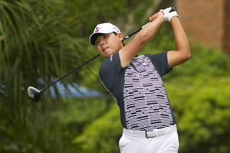 Si Woo Kim kisaa PGA-kiertueen turnauksessa Hilton Headissa.