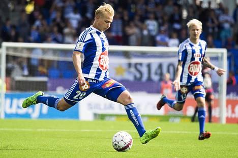 Matti Klinga teki viime kaudella HJK:lle yhden maalin.