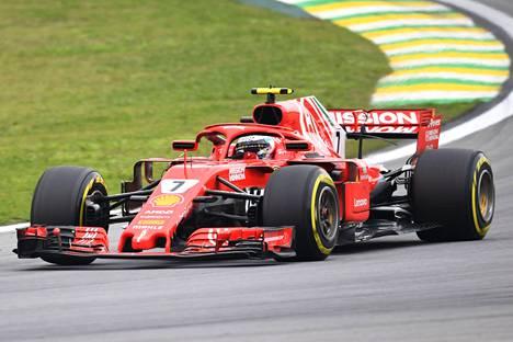 Kimi Räikkönen on menestynyt Brasiliassa aiempina vuosina hyvin.