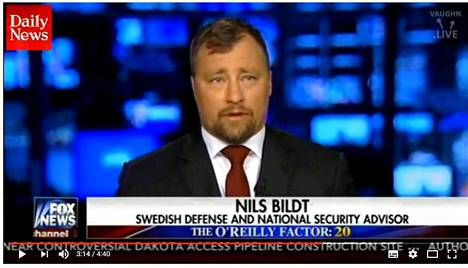 Nils Bildt esiintyi Fox News -kanavalla viime torstaina.