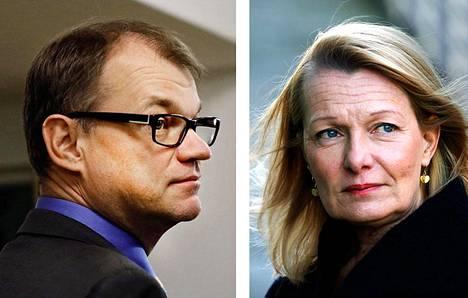 Pääministeri Juha Sipilä ja ulkomaankauppa- ja kehitysministeri Lenita Toivakka.