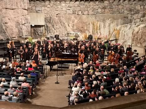Temppeliaukion kirkossa esitettiin Magnus Lindbergin tuotantoa perjantaina.