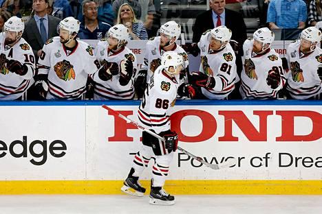 Teuvo Teräväinen (86) on ollut kuuma pelaajaa NHL:n finaaleissa.
