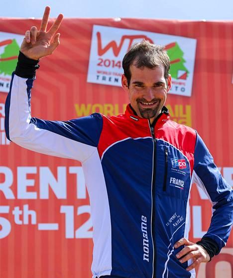 Thierry Gueorgiou juhli voittoa Italian Lavaronessa.