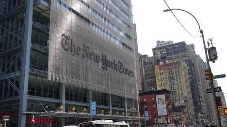 The New York Timesin pääkonttori Manhattanilla.