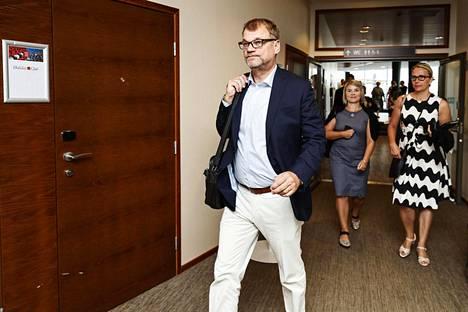 Pääministeri Juha Sipilä saapui aamulla keskustan ministeriryhmän, puoluehallituksen ja eduskuntaryhmän työvaliokuntien yhteiskokoukseen Lappeenrantaan.