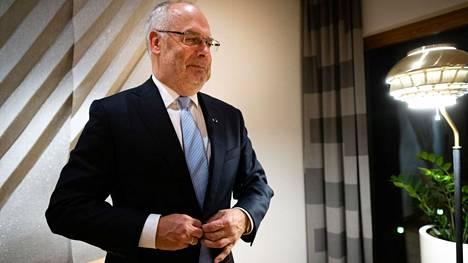 Viron uusi presidentti Alar Karis kuvattuna Helsingissä valtion vierastalossa.