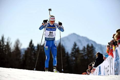 Mari Eder onnistui Suomen kaksikosta paremmin. Kuva tiistain normaalimatkalta.