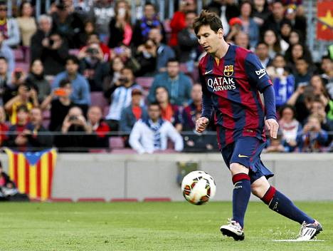 Näin Lionel Messi latasi chippinsä rangaistuspotkusta Getafen verkkoon.