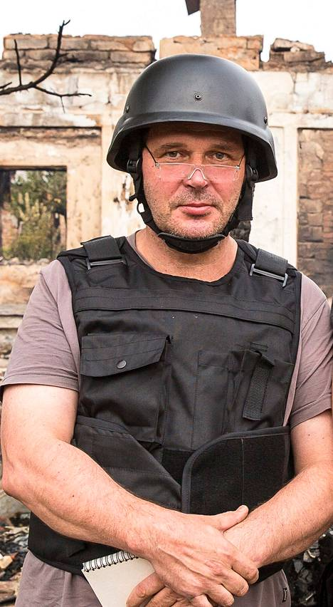 Moskovan-kirjeenvaihtaja Pekka Hakala matkaa Ukrainaan toistuvasti. Kuva elokuulta Donetskista.