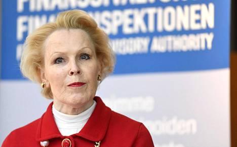 Finanssivalvonnan johtaja Anneli Tuominen.