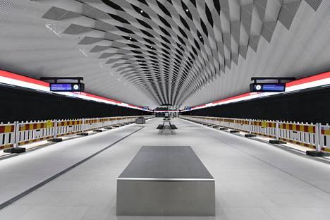 Matinkylän metroasema Espoossa. Länsimetron pitäisi aloittaa liikennöinti elokuussa.
