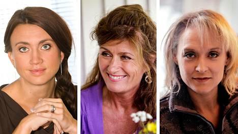 Camilla Läckberg, Mari Jungstedt ja Karin Alvtegen.